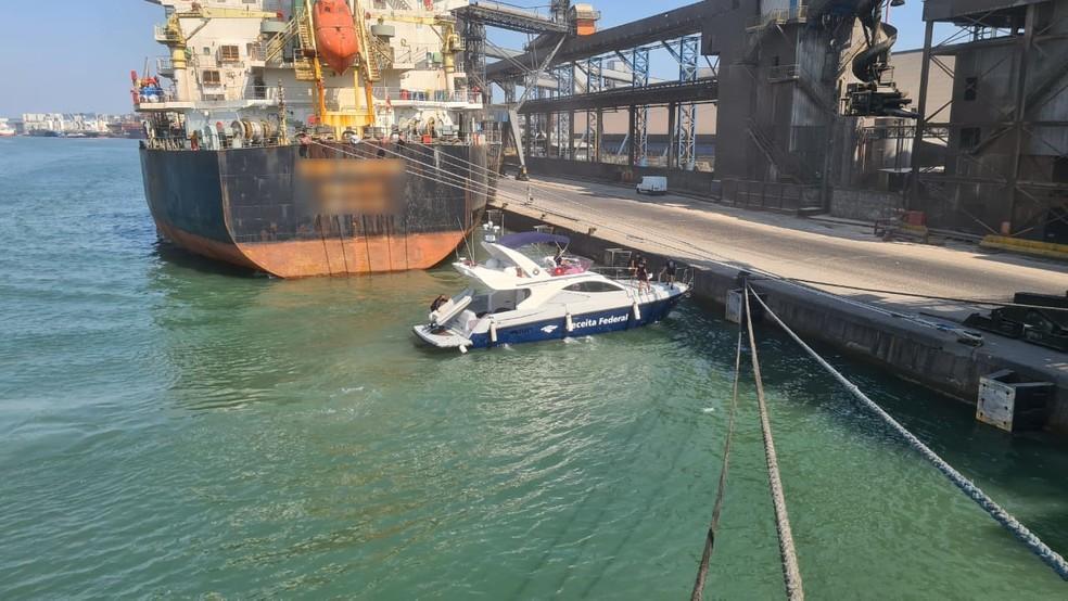 Operação conjunta apreende mais de 300 kg de cocaína em navio no Porto de Santos, SP — Foto: Divulgação/Receita Federal