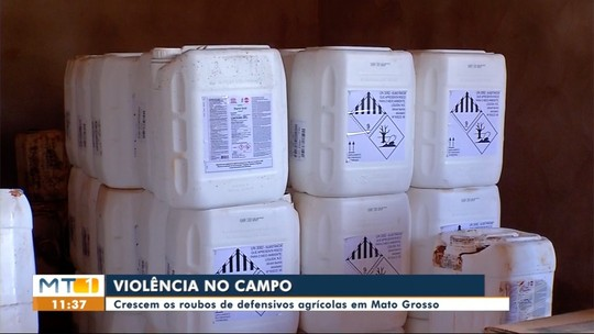 Cresce os roubos de defensivos agrícolas em fazendas de Mato Grosso