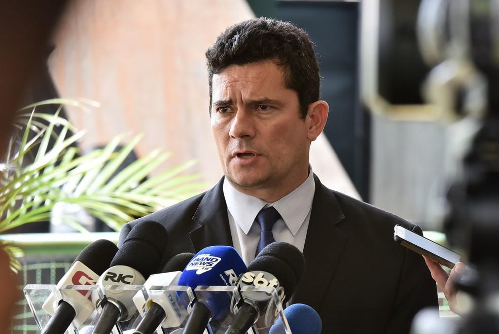 O futuro ministro da Justiça, Sérgio Moro — Foto: Rafael Carvalho/governo de transição