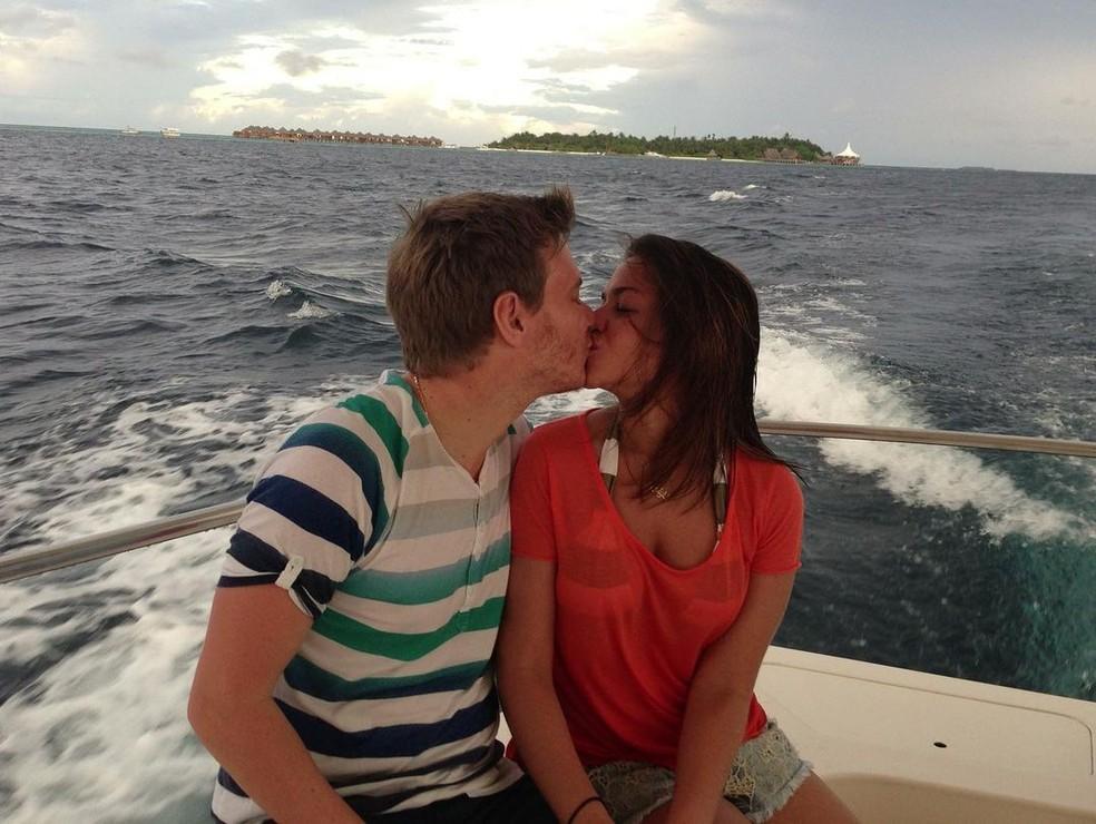 Michel Teló e Thais Fersoza na primeira viagem romântica do casal — Foto: Reprodução/Instagram