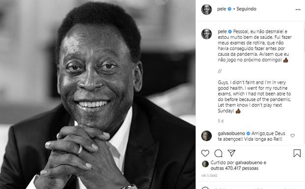 Pelé (Foto: Reprodução/Instagram)