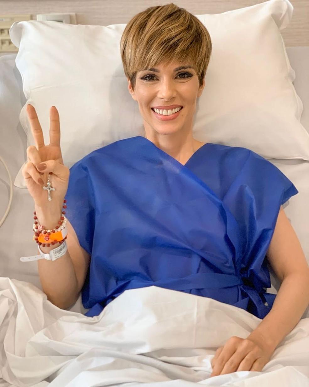 Ana Furtado contou que encerrou o tratamento do câncer de mama — Foto: Reprodução / Instagram