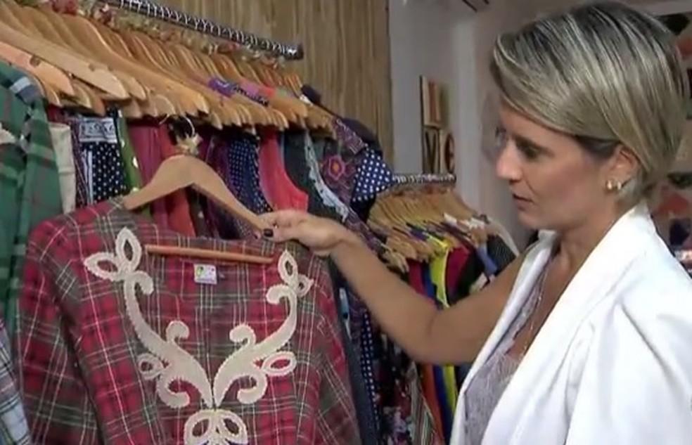 f464f209b ... Dica de consultora de moda é misturar tendências e cores — Foto:  Reprodução/TV