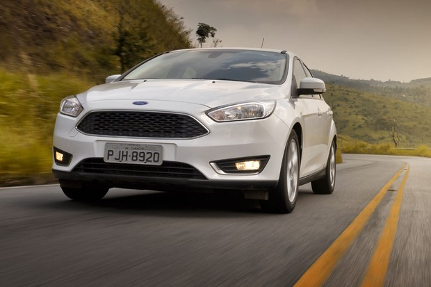 Dianteira do Ford Focus 1.6 SE Plus (Foto: Leo Sposito / Autoesporte)