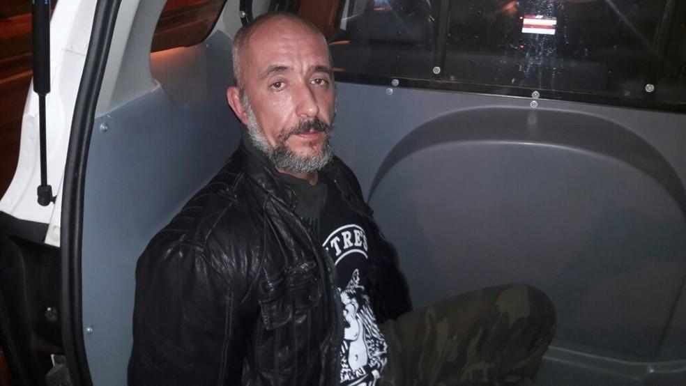 Cristian Cravinhos foi preso suspeito de agredir mulher e tentar subornar policiais em Sorocaba (SP) (Foto: Carlos Dias/G1)