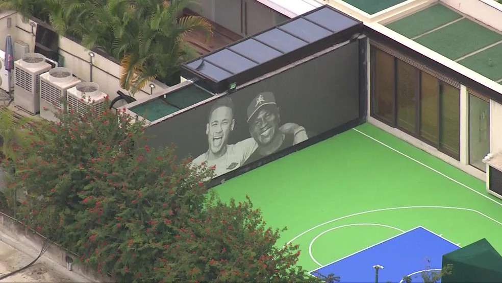 Casa de Neymar em Mangaratiba — Foto: TV Globo