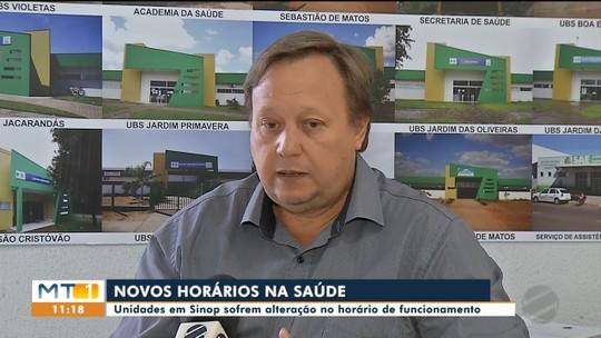 Secretaria de saúde de Sinop muda horários de atendimentos em unidades
