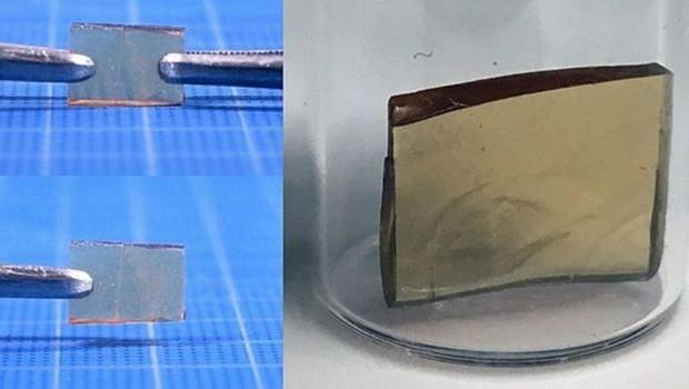 A equipe de Takuzo Aida está trabalhando no desenvolvimento desses polímeros de auto-regeneração (Foto: Takuzo Aida via BBC)