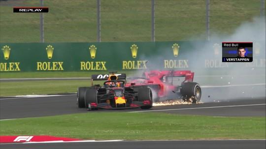 Imprensa italiana detona Vettel por novo erro, em batida com Verstappen no GP da Inglaterra