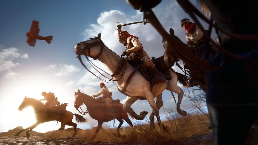 Battlefield 1 traz modo campanha que destaca os horrores da guerra sob diferentes perspectivas — Foto: Divulgação/EA