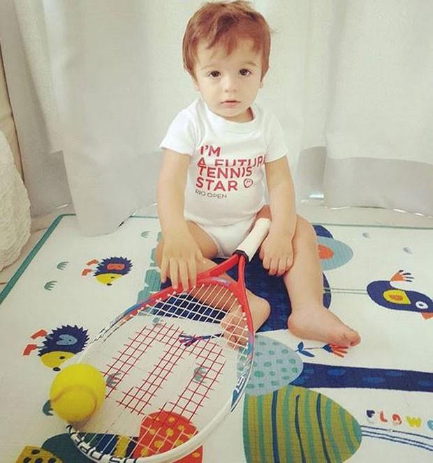Rocco, filho de Felipe Andreoli e Rafa Brites (Foto: Reprodução/Instagram)