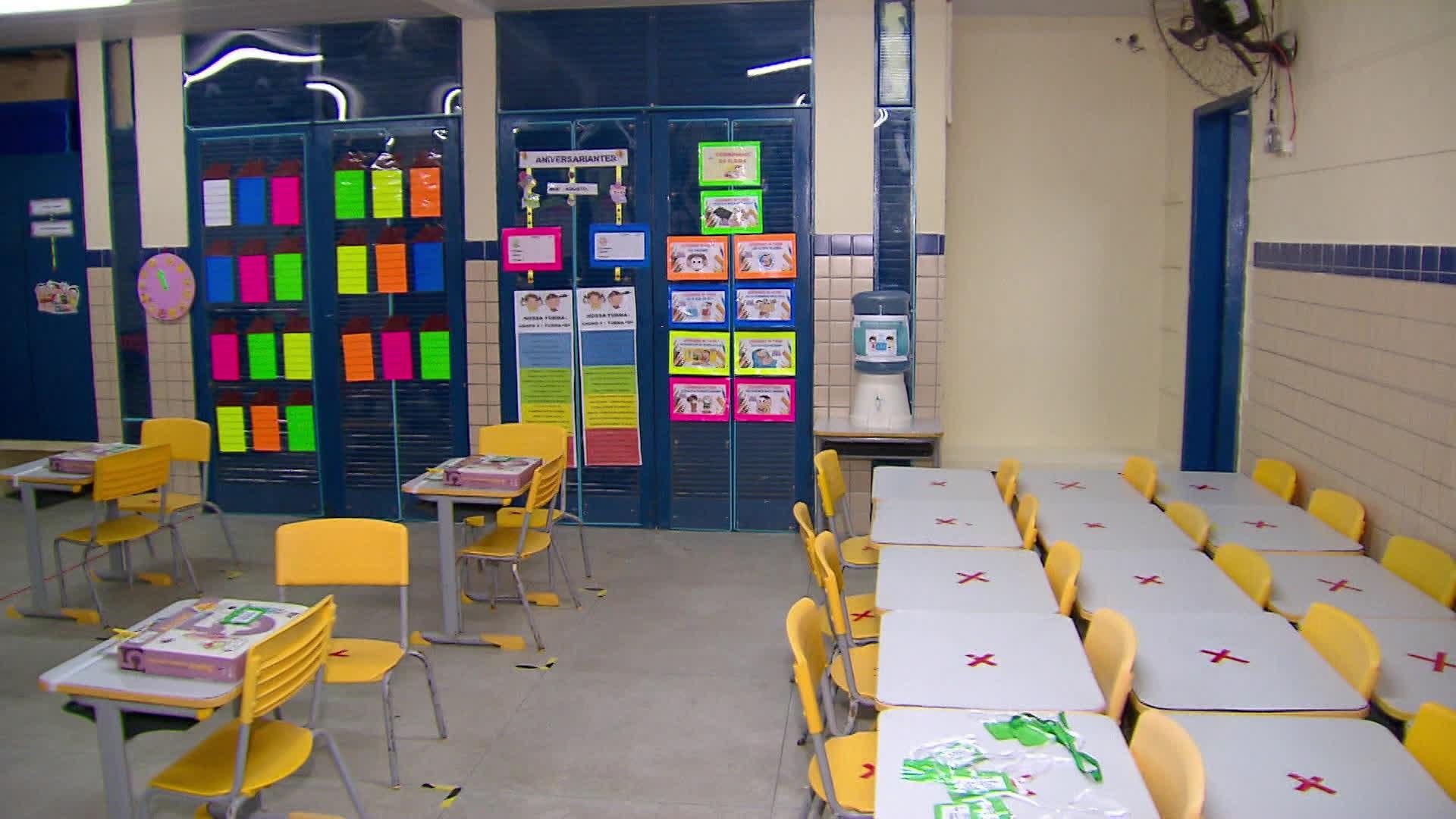 Alunos de creches e pré-escolas do Recife e dos anos iniciais do ensino fundamental voltam para a sala de aula
