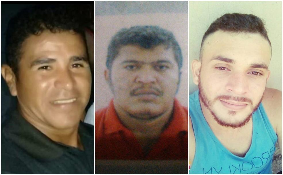 Ednaldo Silva e Silva, José Berto Henrique e Danrlei de Sousa Albuquerque são as três vítimas do naufrágio nos Lençóis Maranhenses — Foto: Reprodução/G1 MA