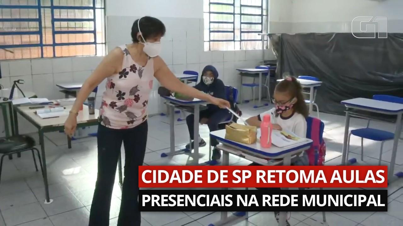VÍDEO: Escolas de São Paulo adotam regras para retomar atividades presenciais
