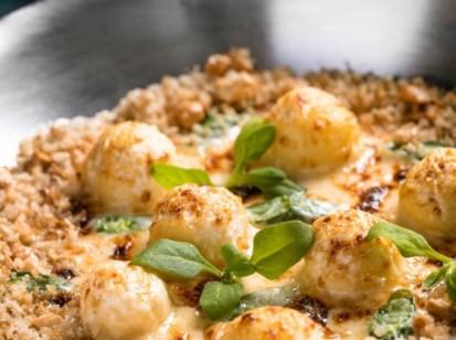 No Ino, a novidade é o Gnudi, um gnocchi feito com ricota fresca e pecorino