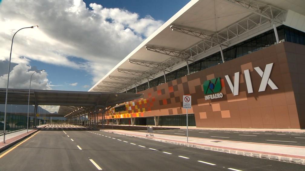 Fachada del Nuevo aeropuerto de Vitória (Foto: Reproducción / TV Gazeta)