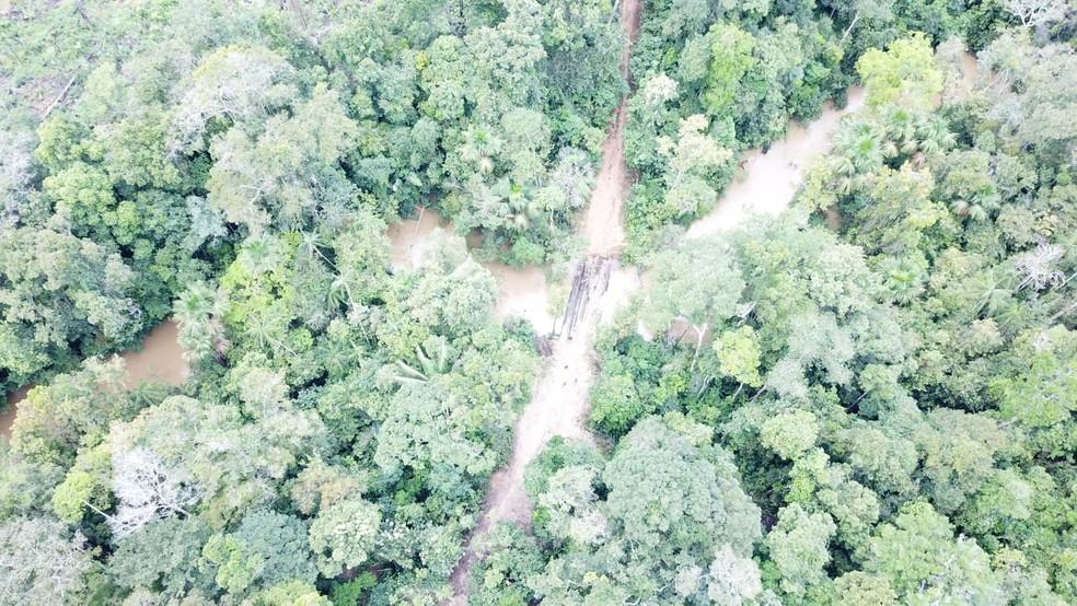 Operação na TI Karipuna em Rondônia  — Foto: PF/Divulgação