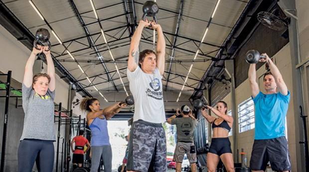 Na passarela: Aula na CrossFit Brasil: senso de comunidade reúne público diversificado (Foto: Anna Carolina Negri)
