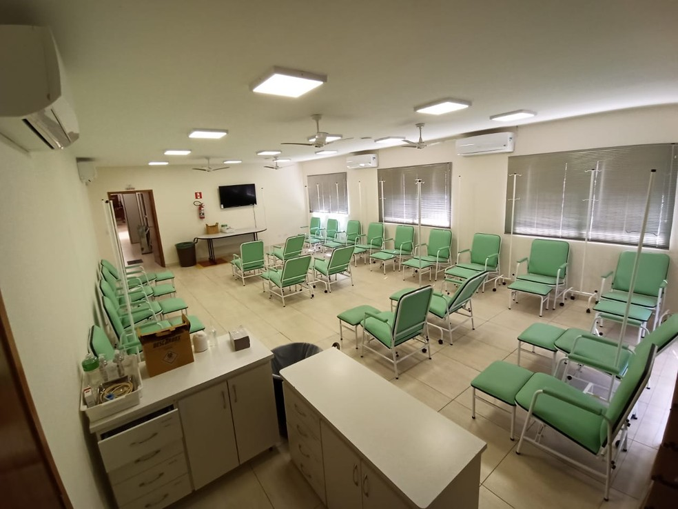 Centro exclusivo para atendimento de pessoas com dengue em Londrina — Foto: Prefeitura de Londrina/Divulgação