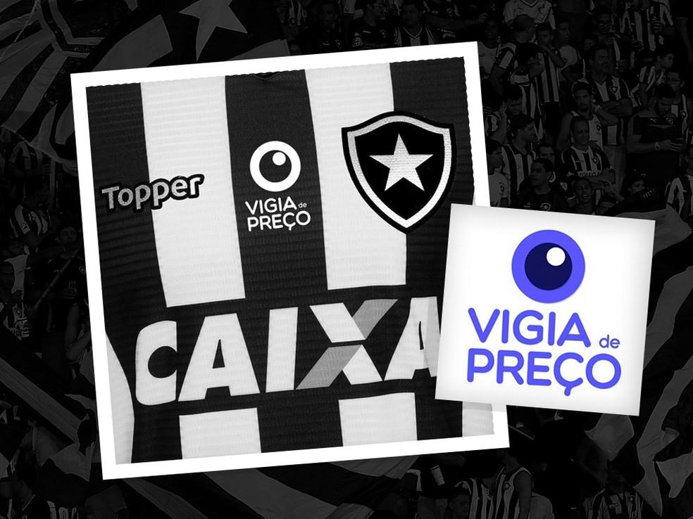1324478dba33c ... Vigia de Preço será nova marca na camisa do Botafogo — Foto  Divulgação