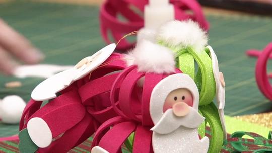 Papai Noel de EVA: imprima os moldes e faça o seu enfeite de Natal