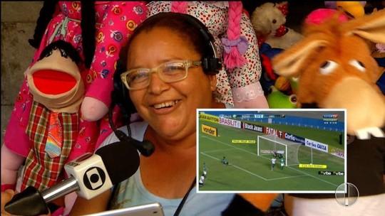 """Para estimular clube, torcedores narram gols do ABC no quadro """"Olha o Gol"""""""
