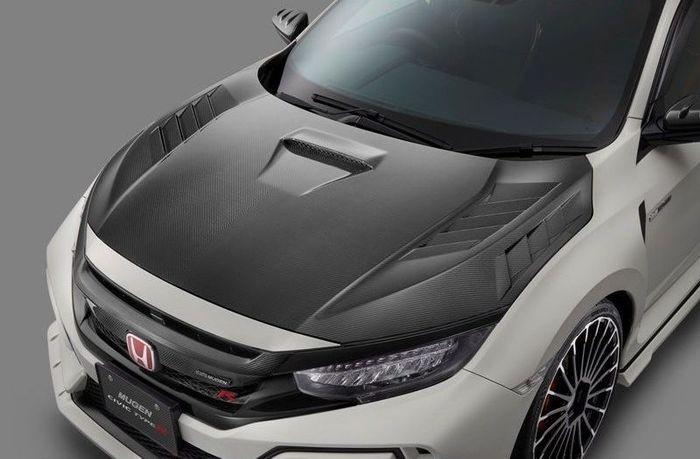 Capô de fibra de carbono do Honda Civic Type R (Foto: Divulgação)