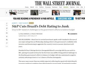 Reportagem do 'Wall Street Journal' (Foto: Reprodução/WSJ)