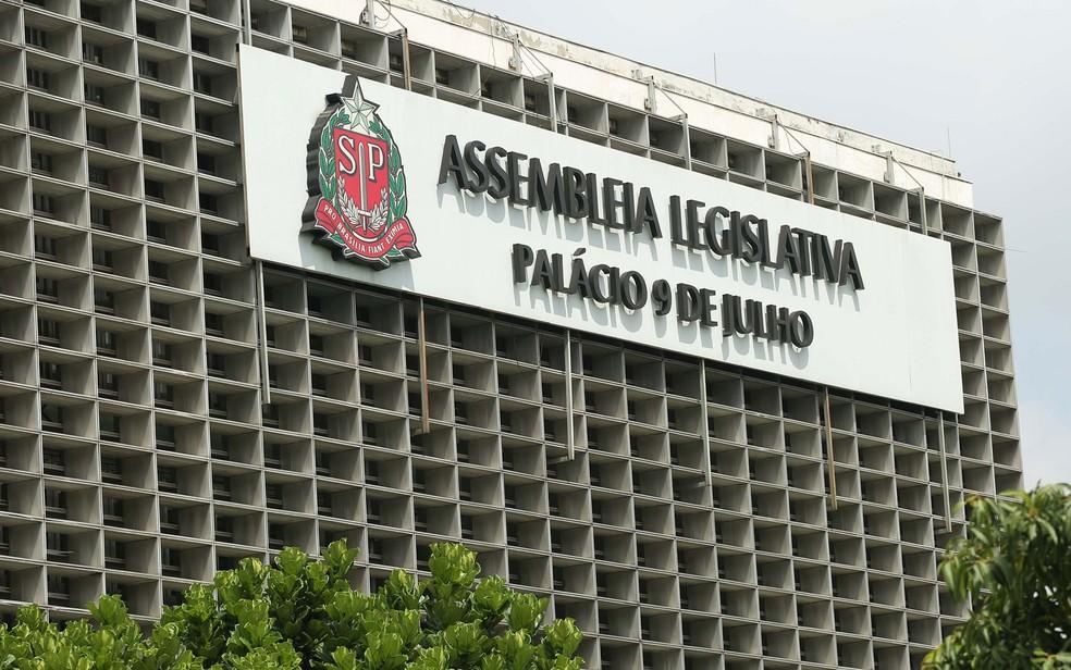 Fachada da Assembleia Legislativa de São Paulo, na Zona Sul da capital — Foto: Renato S. Cerqueira/Futura Press/Estadão Conteúdo