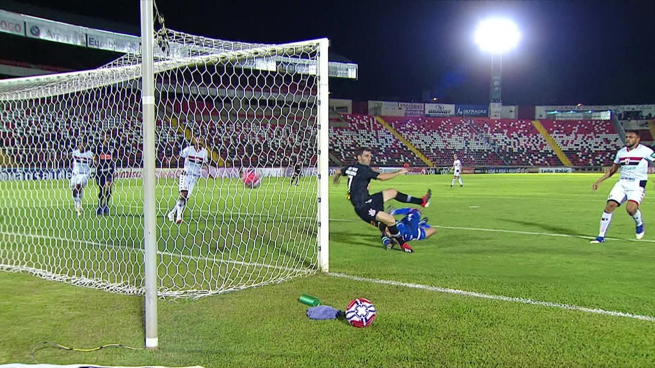 O primeiro foi na vitória por 1 a 0 contra o Botafogo-SP, em 2019