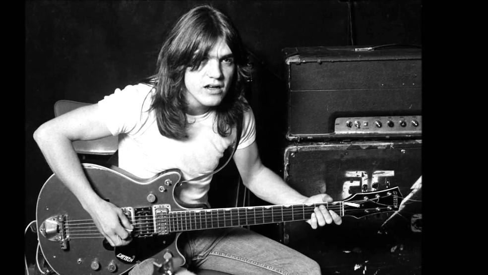 Malcolm Young, guitarrista do AC/DC (Foto: Reprodução/Facebook/AC/DC)