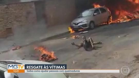 Vídeo mostra desespero no resgate de vítimas de queda de avião em BH