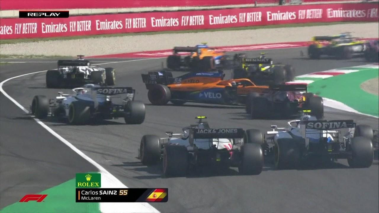 GP da Toscana tem confusão com Raikkonen, Gasly, Grosjean e Verstappen na largada