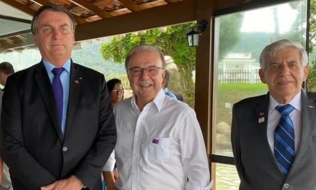 Fernando Jordão, Jair Bolsonaro e Heleno