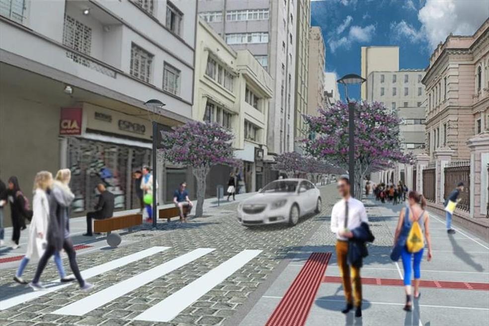 Na imagem, o depois da Rua Voluntários da Pátria — Foto: Divulgação/Prefeitura de Curitiba