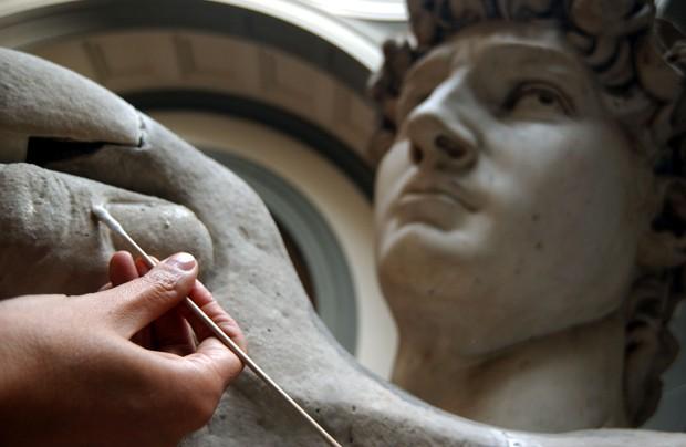 Davi de Michelangelo, a figura clássica da masculinidade (Foto: Getty Images)