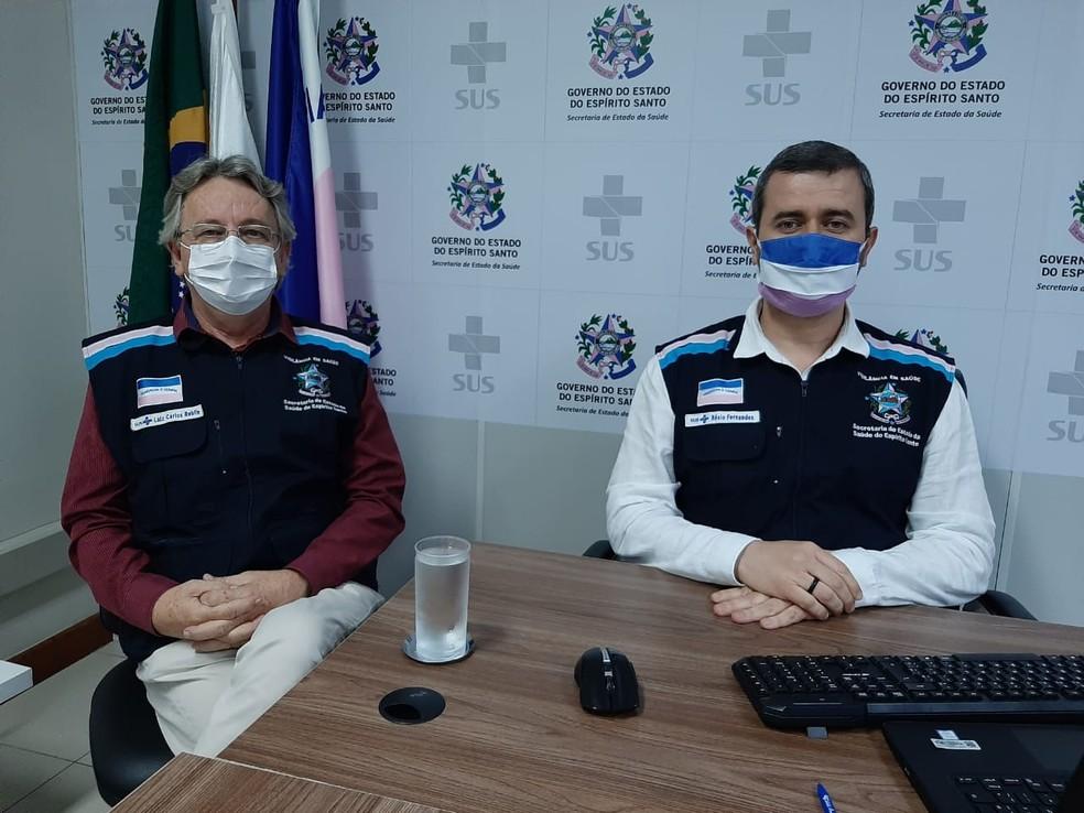 Coletiva foi realizada na manhã desta terça-feira — Foto: Divulgação/Sesa