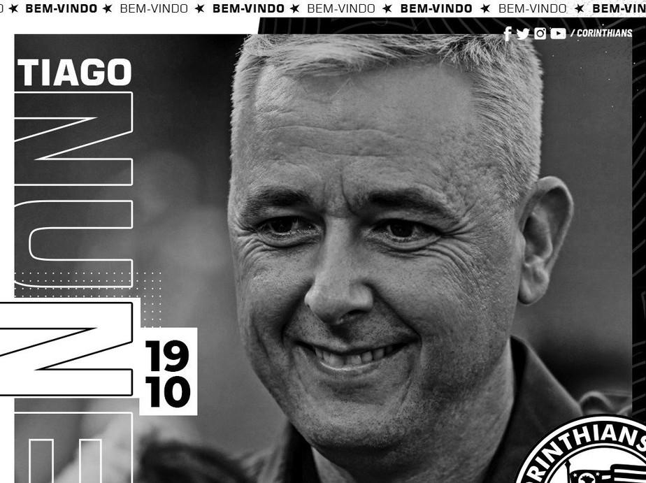 Corinthians anuncia contratação do técnico Tiago Nunes