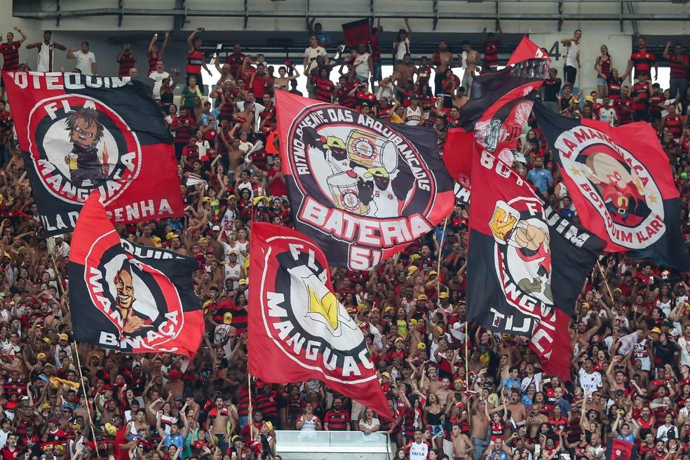 Torcida do Flamengo comparecerá em grande número no clássico de sábado — Foto: ANDRé MELO ANDRADE/AM PRESS & IMAGES/ESTADÃO CONTEÚDO