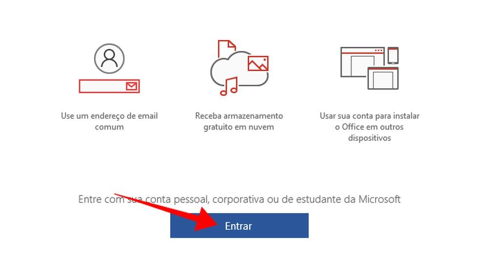 Faça login para atrelar o Office a uma assinatura do Office 365 — Foto: Reprodução/Paulo Alves
