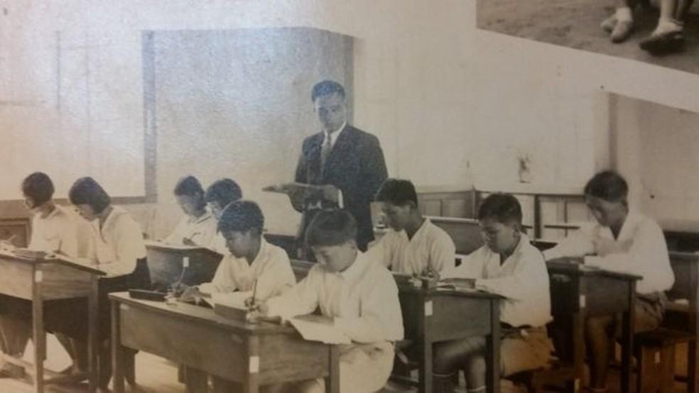 Aiko estudou em escola só para imigrantes em Bastos, no interior de SP — Foto: Arquivo pessoal