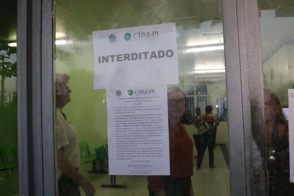 CRM-PI realiza interdição parcial do Maternidade Evangelina Rosa  — Foto: Lucas Marreiros/G1 PI