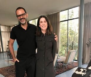 Alberto Renault e Fernanda Torres nas gravações do 'Casa Brasileira' | Daniel Martins