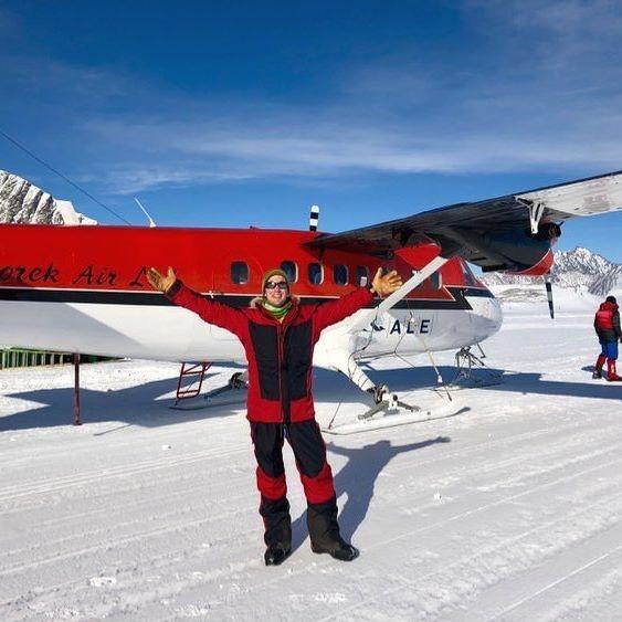 Colin O'Brady logo que chegou na Antártida (Foto: Instagram / Colin O'Brady)