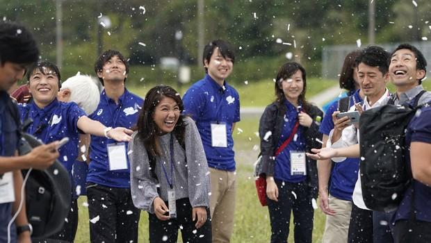 Teste de neve artificial foi feito com voluntários (Foto: Getty Images)