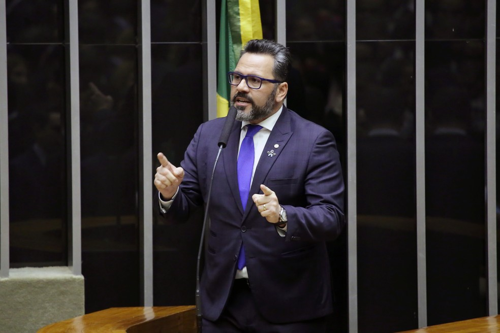 O deputado federal Alan Rick (DEM-AC) fala no plenário da Câmara  — Foto: Luis Macedo/Câmara dos Deputados