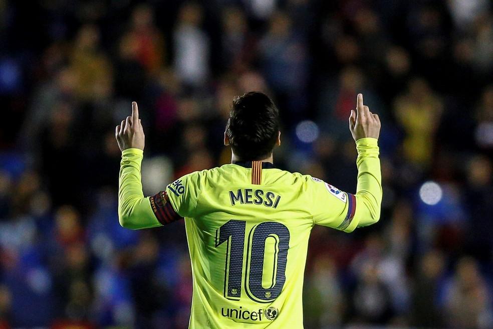 Segundo estudo, Messi é o sétimo jogador mais caro do mundo — Foto: EFE/ Biel Aliño