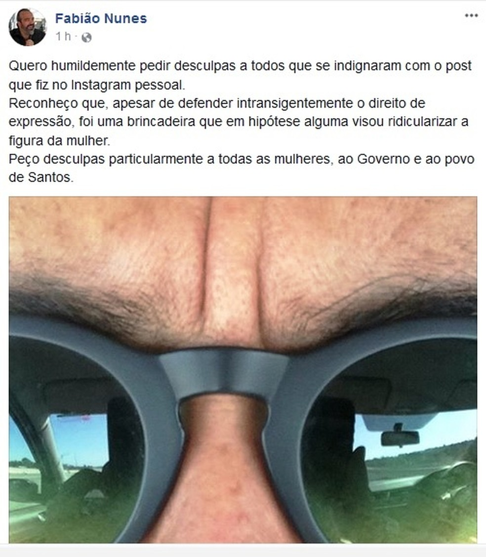 Secretário pediu desculpas após postagem polêmica (Foto: Reprodução/Facebook)