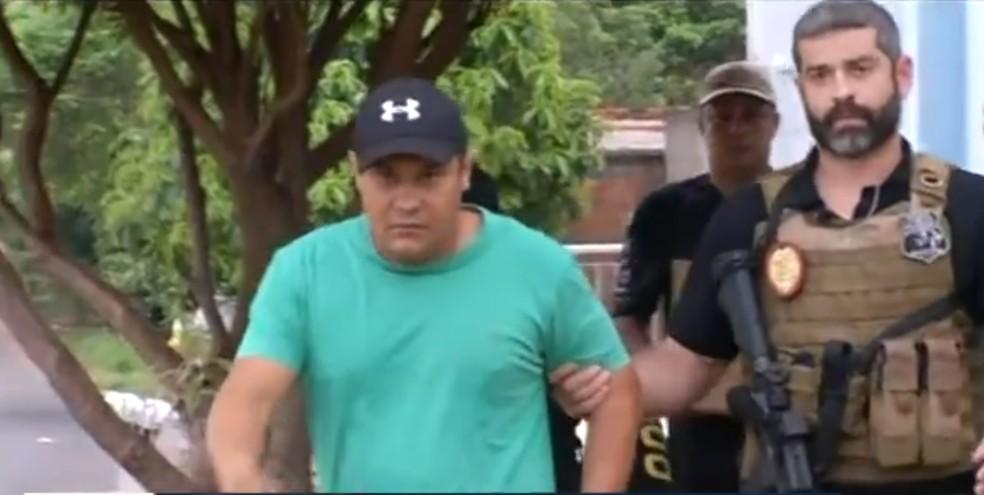 Vereador Gilmar de Oliveira Costa foi preso em Araguaína — Foto: Reprodução/TV Anhanguera