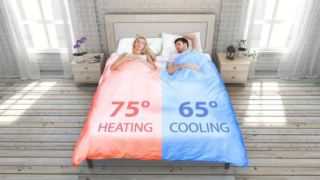 Como funciona o 'cobertor inteligente' controlado pelo celular de quem está em cada metade da cama